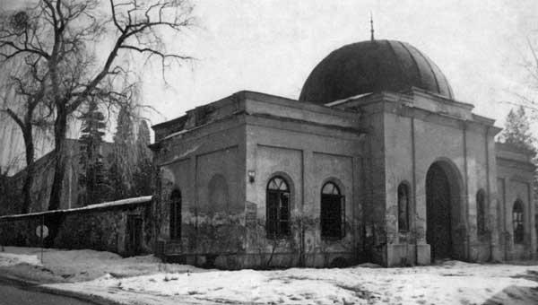 Zboření obřadní síně na židovském hřbitově v Přerově
